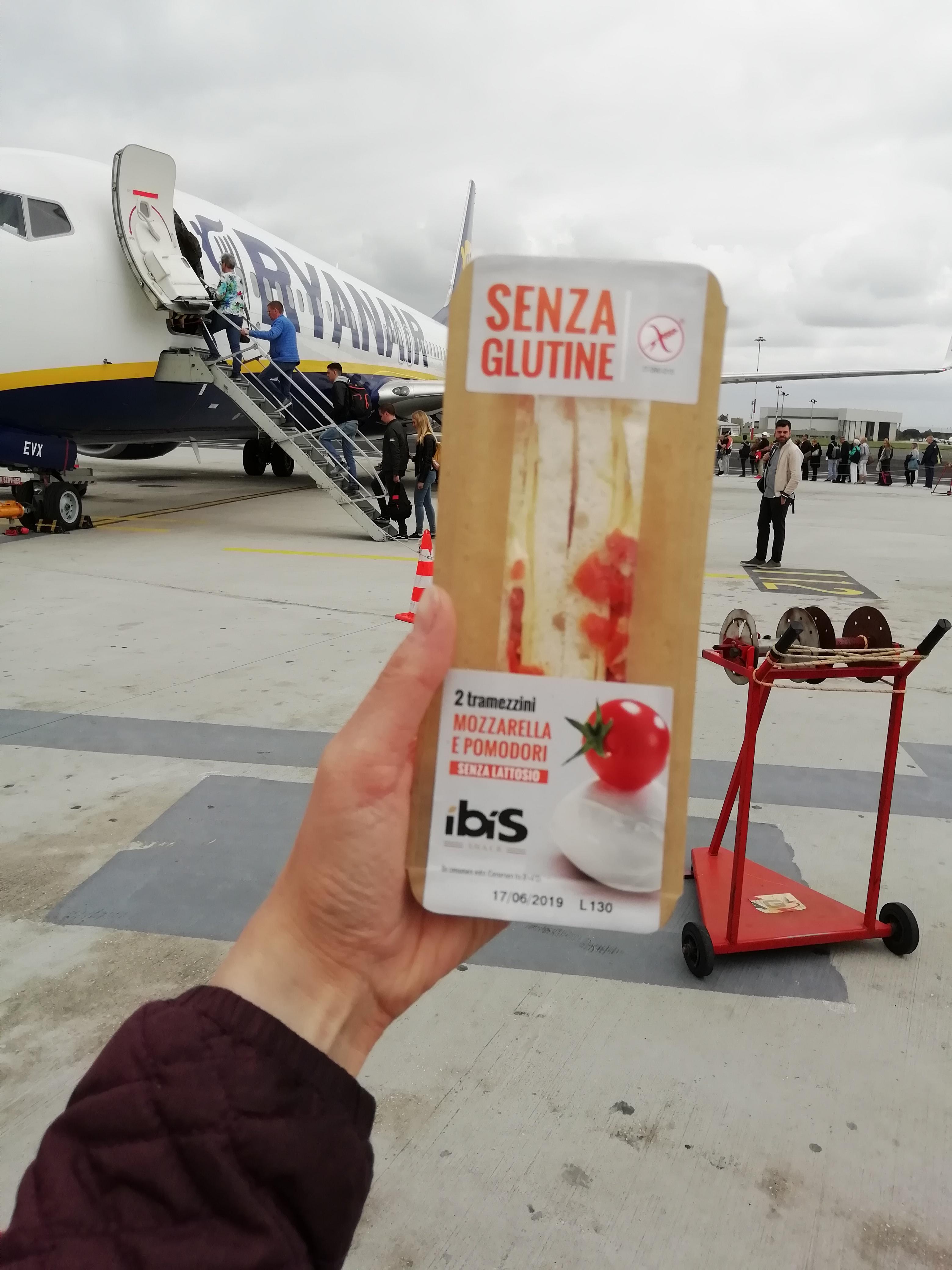 Glutenvrij broodje luchthaven Ciampino